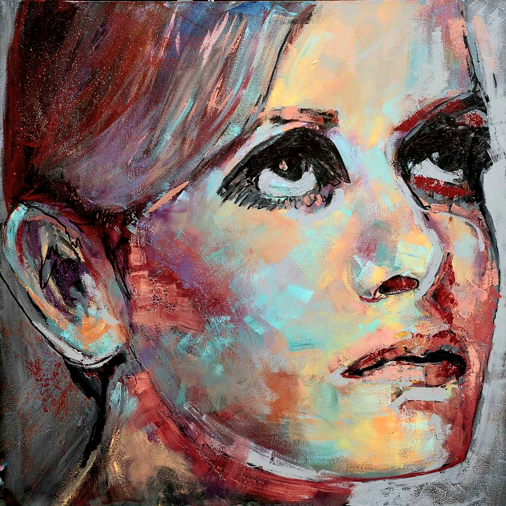 Reflection of Twiggy Medium: Oil on canvas 450x450 Canvas print R1700 450x450 Canvas print stretched R2200 1000x1000 Canvas print R3500 1000x1000 Canvas print stretched R4000